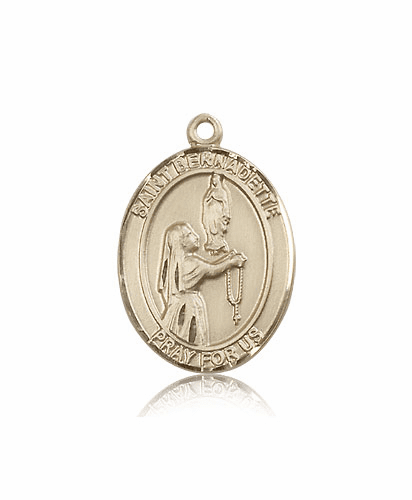 St Bernadette 14kt Gold Saint Medal Pendant by Bliss