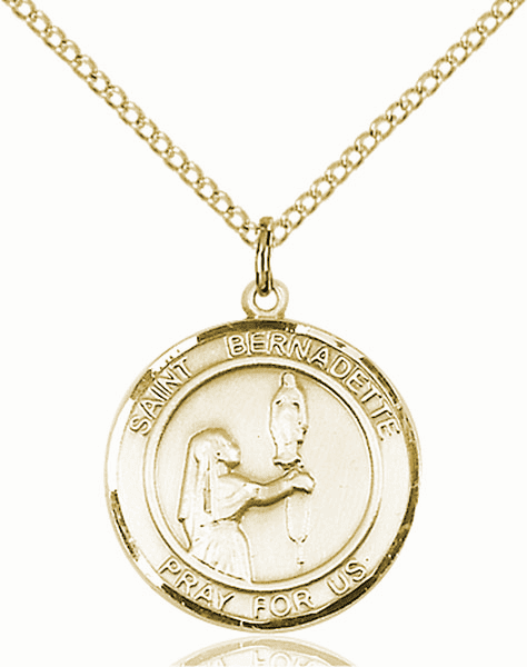 St Bernadette Medium Patron Saint 14kt Gold-filled Medal by Bliss