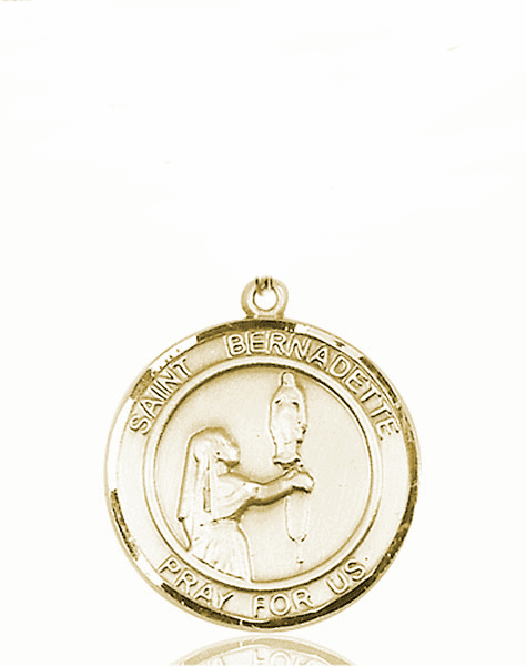 St Bernadette Medium Patron Saint 14kt Gold Medal by Bliss