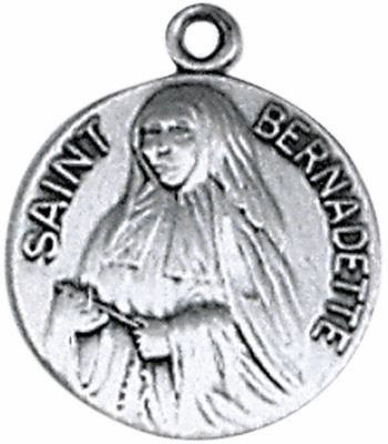 St Bernadette Sterling Silver Saint Necklace