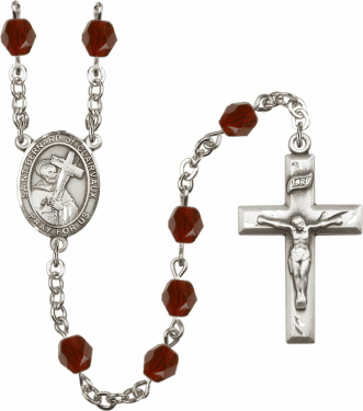 St Bernard of Clairvaux Birthstone Crystal Rosary by Bliss - More Colors