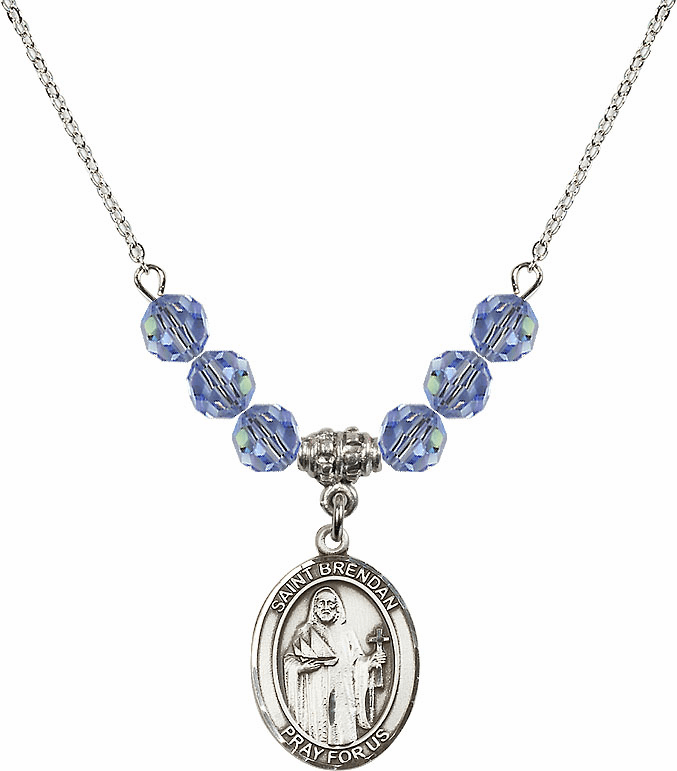 St Brendan the Navigator Crystal Beaded Necklaces