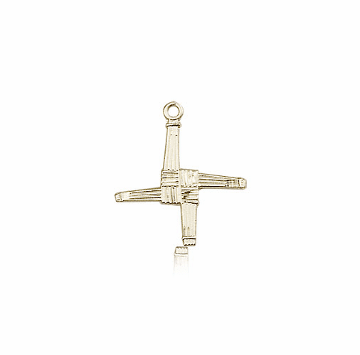 St Brigid Cross 14kt Gold Pendant Necklace by Bliss