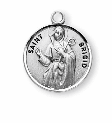 St Brigid of Ireland Sterling Silver Patron Saint Necklace by HMH Religious