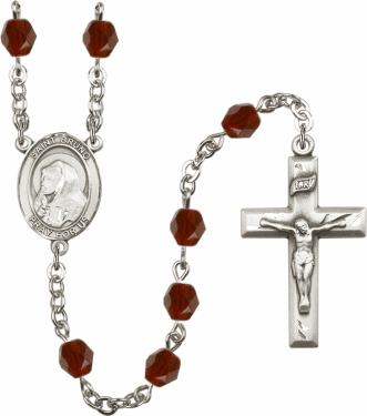 St Bruno Birthstone Crystal Prayer Rosary by Bliss - More Colors