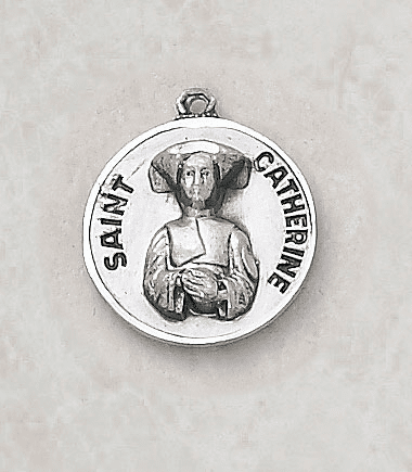 St Catherine Laboure Sterling Silver Medal by Creed Jewelry