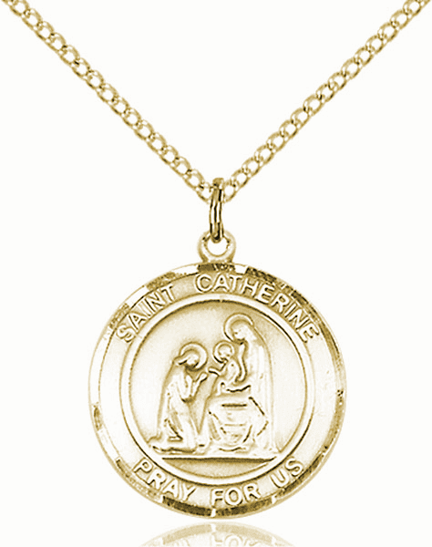 St Catherine of Siena Medium Patron Saint 14kt Gold-filled Medal by Bliss