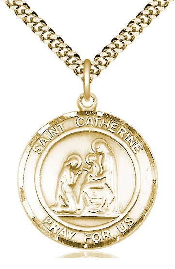 St Catherine of Siena Saint 14kt Gold-filled Medal by Bliss - More Sizes