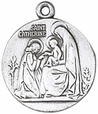 St Catherine of Siena Sterling Silver Saint Necklace