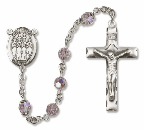 St Cecilia Choir Sterling Silver Rosary