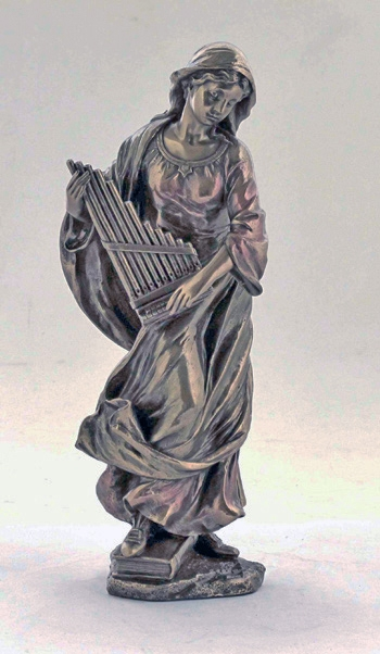 St Cecilia Cold-Cast Bronze Statue by Veronese Collection
