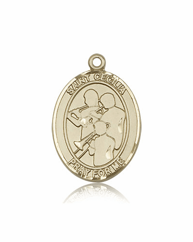 St Cecilia Marching Band 14kt Gold Patron Saint Pendant by Bliss Mfg