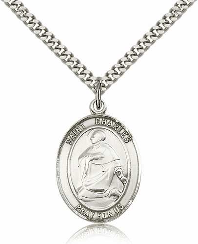St Charles Borromeo Patron Saint of Catechists Sterling-filled Medal Necklace by Bliss
