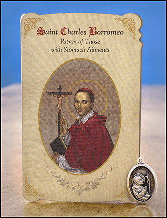 St Charles Borromeo Stomach Ailments Healing Holy Cards Sets 6 pcs by Milagros