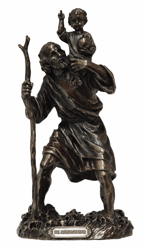 St Christopher and Child Jesus Bronze Statue by Veronese Collection