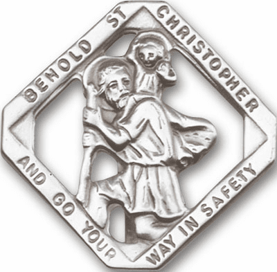 St Christopher Auto Visor Clips