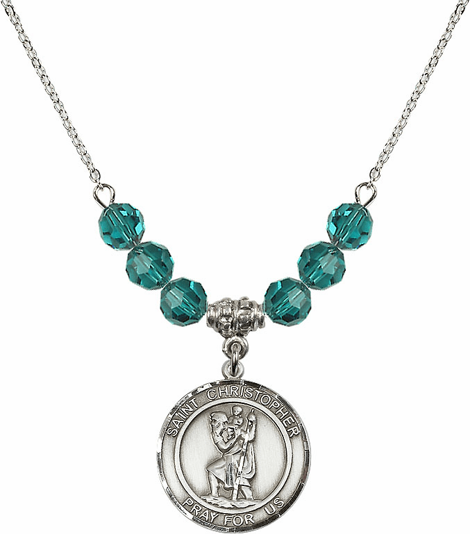 St Christopher Beaded Necklace Jewelry