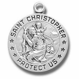 St Christopher Catholic Medal Necklace by HMH Religious