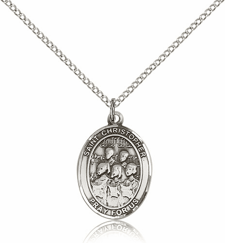 St Christopher Choir Sterling Silver Pendant by Bliss Manufacturing
