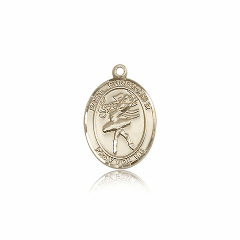 St Christopher Dance 14kt Gold Sports Medal Pendant by Bliss
