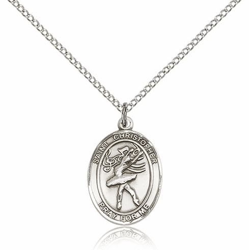 St Christopher Dance Pewter Patron Saint Necklace by Bliss
