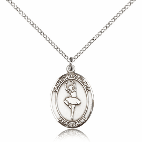 St Christopher Dance Silver-Filled Patron Saint Medal by Bliss Manufacturing