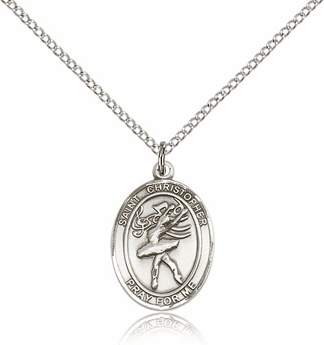 St Christopher Dance Sterling Silver Pendant Necklace by Bliss
