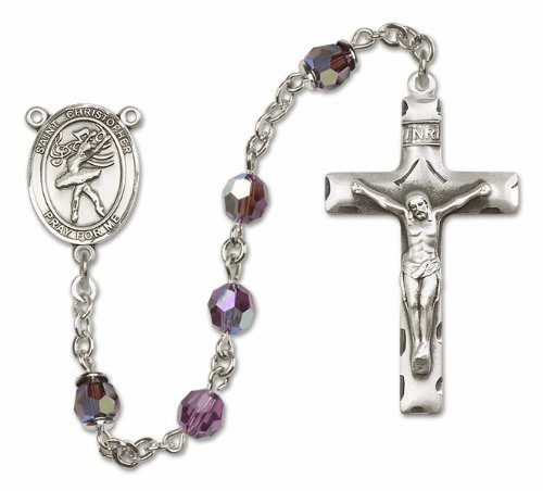 St Christopher Dance Sterling Silver Saint Sports Rosary