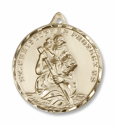 St Christopher Gold-Filled Medals