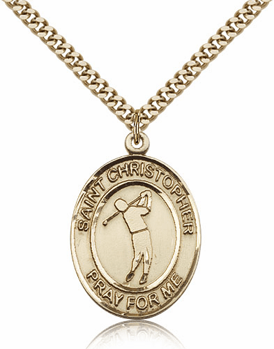 St Christopher Golf Sports 14kt Gold-Filled Pendant Necklace by Bliss