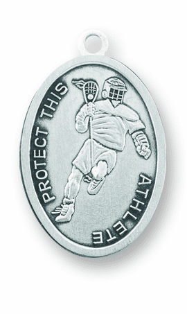 St Christopher Lacrosse Sports Necklace