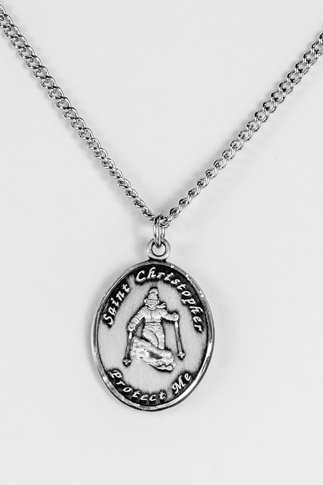 St. Christopher Ladies Skiing Necklace