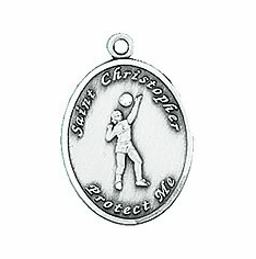 St. Christopher Ladies Volleyball Necklace