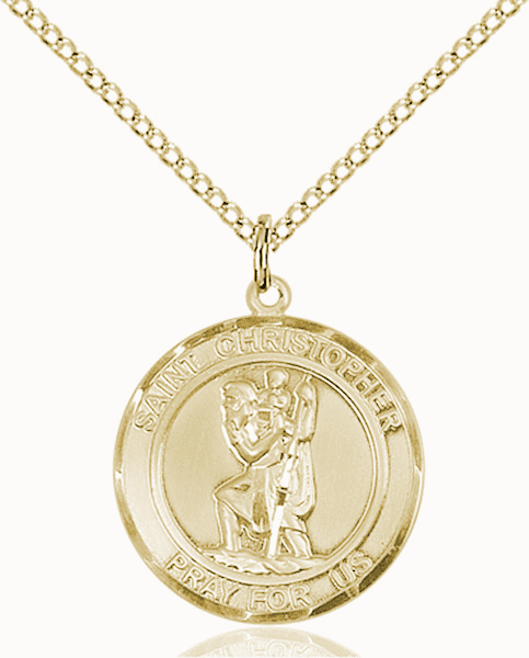 St Christopher Medium Patron Saint 14kt Gold-filled Medal by Bliss