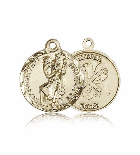 St Christopher National Guard Gold Medal by Bliss