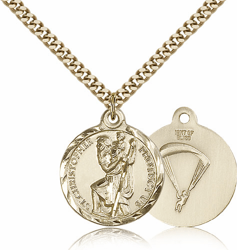 St. Christopher Paratrooper Saint Medalby Bliss