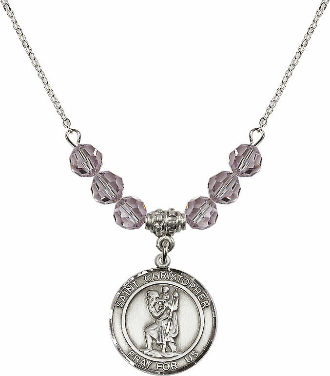 St Christopher Patron Saint Beaded Necklace Jewelry