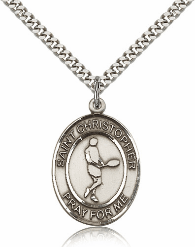 St Christopher Tennis Sterling Silver Necklace by Bliss