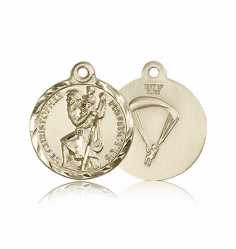 St Christopher US Paratrooper Saint Medal by Bliss
