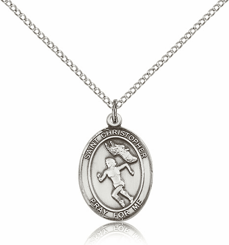 St. Christopher Woman's Track & Field Necklace by Bliss
