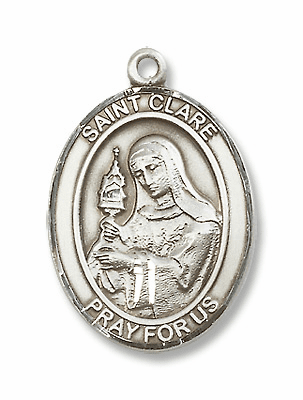 St Clare of Assisi Patron Saint of Eyes/Television Jewelry & Gifts