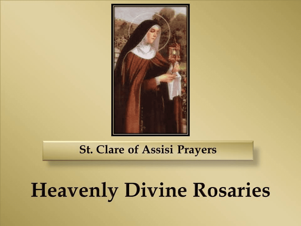 St. Clare of Assisi Prayers