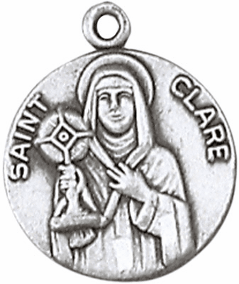 St Clare Sterling Silver Saint Necklace
