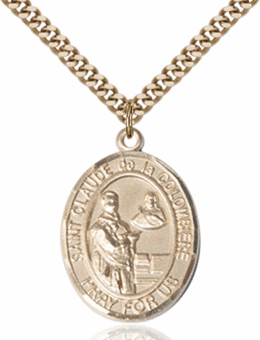 St Claude de la Colombiere Patron Saint of Toy Makers 14kt Gold-Filled Medal by Bliss