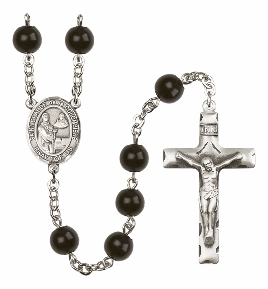 Bliss Mfg St Claude de la Colombiere 7mm Black Onyx Rosary