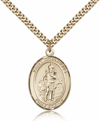 St Cornelius 14kt Gold Filled Saint Medal Necklace by Bliss