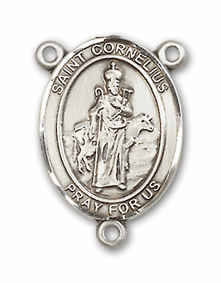 St Cornelius Patron Saint of Earache Medal Rosary Center by Bliss