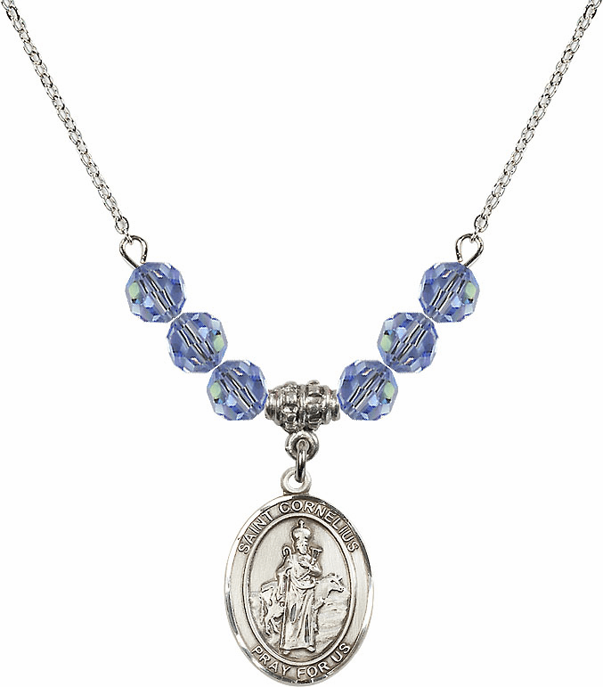 St Cornelius Swarovski Crystal Beaded Patron Saint Necklace by Bliss Mfg