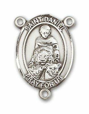 St Daniel is the Patron Saint for Prophecy Sterling Silver Rosary Center by Bliss