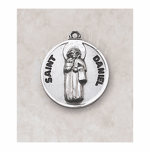 St Daniel Sterling Patron Saint Medal w/Chain by Creed Jewelry